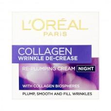 L'Oreal Paris Wrinkle Decrease Collagen Re-Plumper Night Cream 50ml