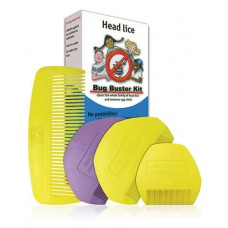Head Lice Bug Buster Kit – 4 combs, Unique Set to Fight Head Lice