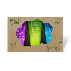 Petit&Jolie Baby Gift Set - Hair&Body Shampoo 50ml, Diaper Cream 50ml & Body Lotion 50ml